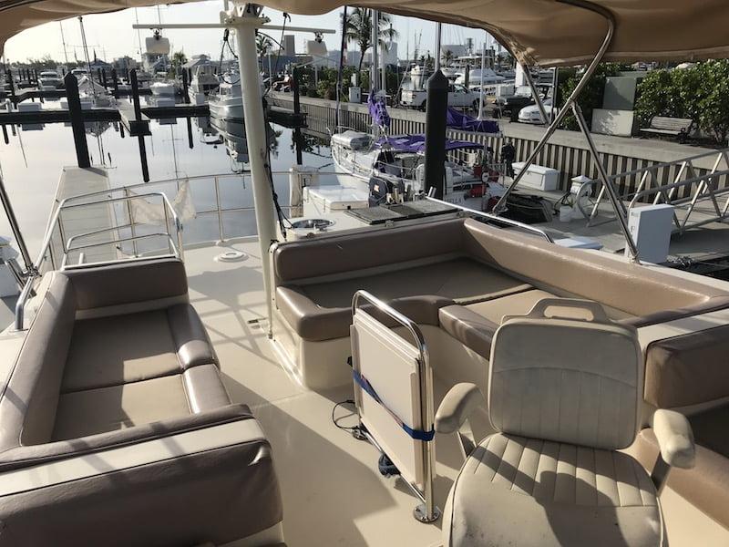 captains boat cockpit