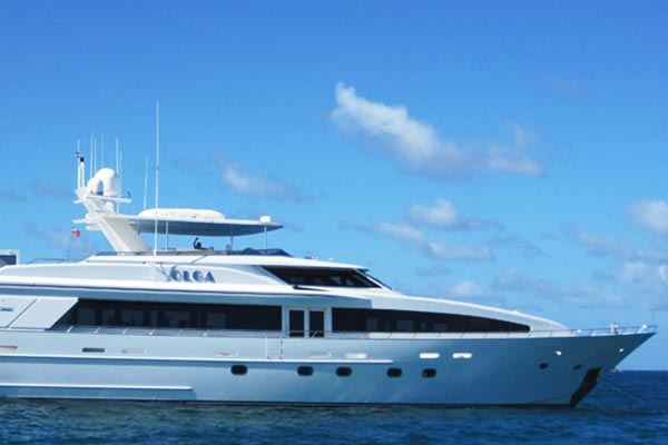 Olga is a 121' Crescent Motor Yacht Available for Charter