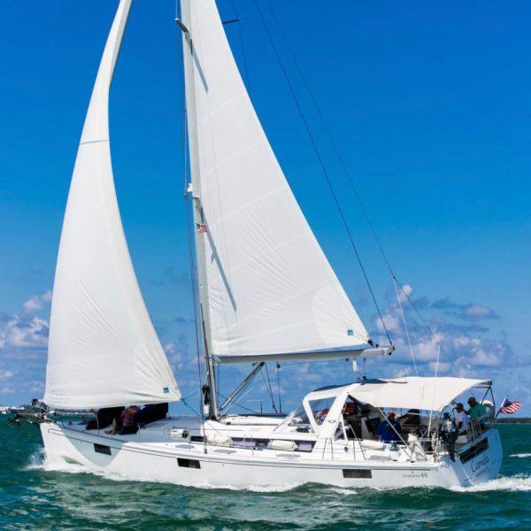 Miami Sailing Regatta On A Perfect Day
