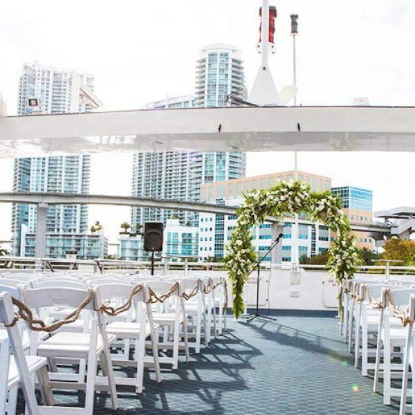 Elegant Wedding Aisle on Biscayne Lady